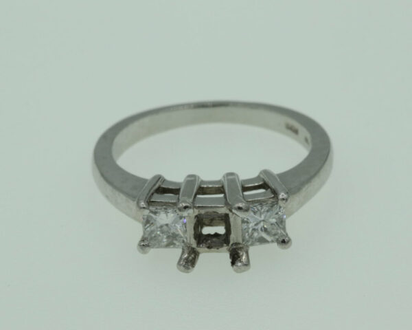 Buy 3 Stone Princess Platinum 1.40cts Ring