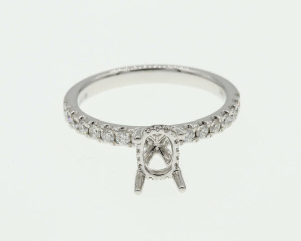 Buy 14k White Gold 50 RD .45 Ring
