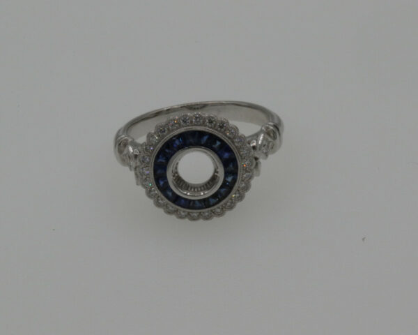 Buy 18k W/G Dia .19ct BS .58ct FOR 1/2ct Ring